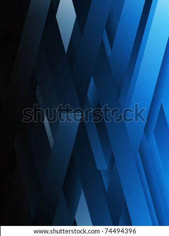 Vector - Blue abstract geometric lines background. - stock vector