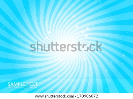 Vector blue abstract  star burst background illustration - Vector background blast template illustration  - stock vector