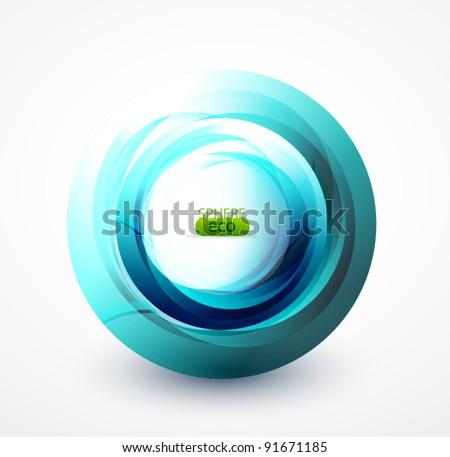 Vector blue abstract swirl - stock vector