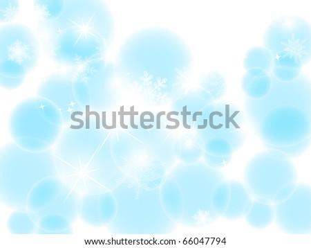 vector blue bokeh - stock vector