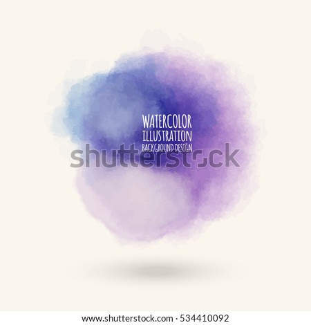 Vector blue brush strokes. Watercolor Grunge isolated elements. Smoke brushes for your design. Freehand. Ink splash. Acrylic stamp. Vector illustration.