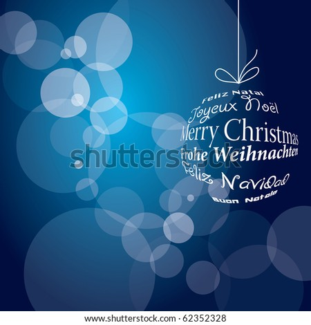 vector blue christmas background, eps 10 file - stock vector