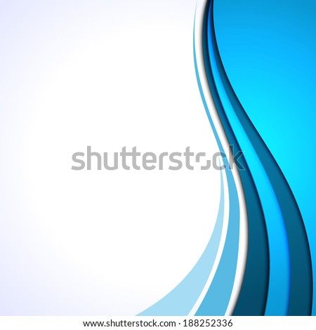 Vector blue curves background. Frame for text - stock vector