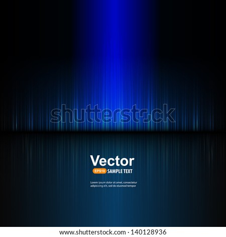 Vector blue equalizer - stock vector