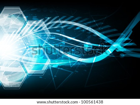 vector blue extreme explosion abstract background