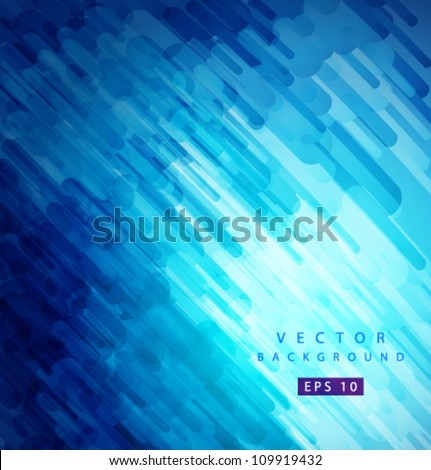 Vector blue flow - stock vector