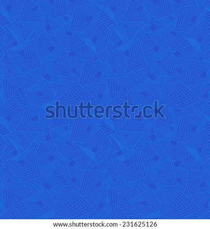 Vector blue geometric pattern - stock vector