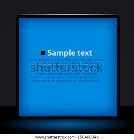 Vector blue light box  illustration - stock vector