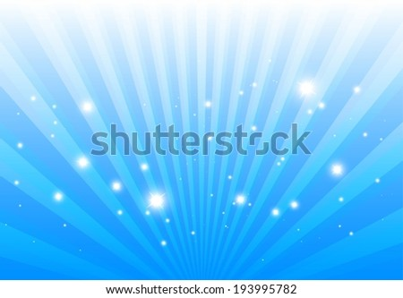Vector blue light rays background template  - Abstract blue lights background illustration - stock vector