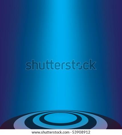 vector blue lighting background - stock vector