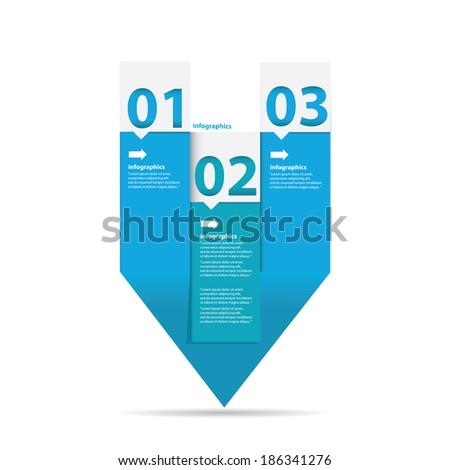 vector blue Paper Progress infographic background / product choice or versions / banners or web layout