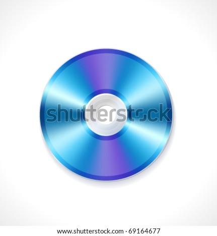 Vector blue ray disc - stock vector