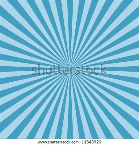 vector blue retro burst abstract background - stock vector