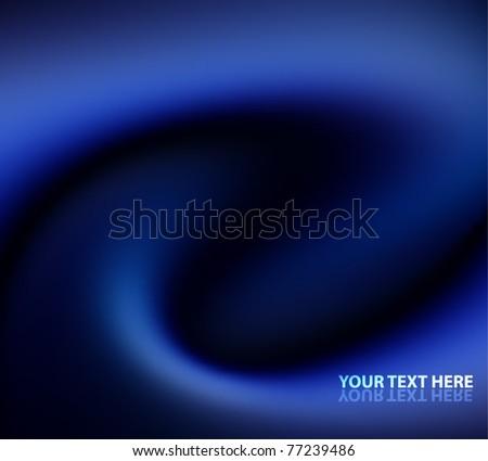 Vector  blue silk background - stock vector