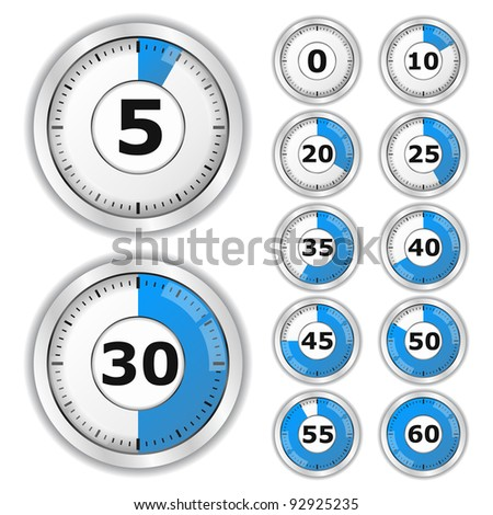 Vector Blue Timers - stock vector