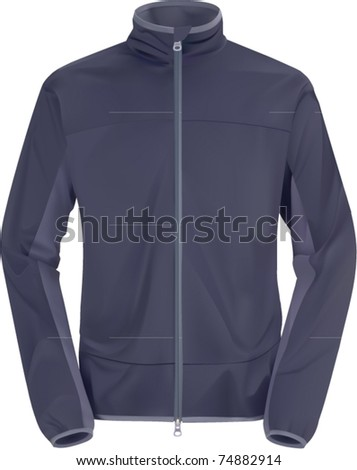 vector blue windstopping jacket - stock vector