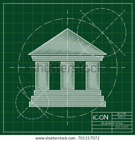 Vector blueprint building icon on engineer stock vector hd royalty vector blueprint building icon on engineer and architect background business collection malvernweather Image collections