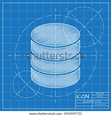 Vector blueprint database icon on engineer stock vector 692449735 vector blueprint database icon on engineer and architect background business collection malvernweather Choice Image