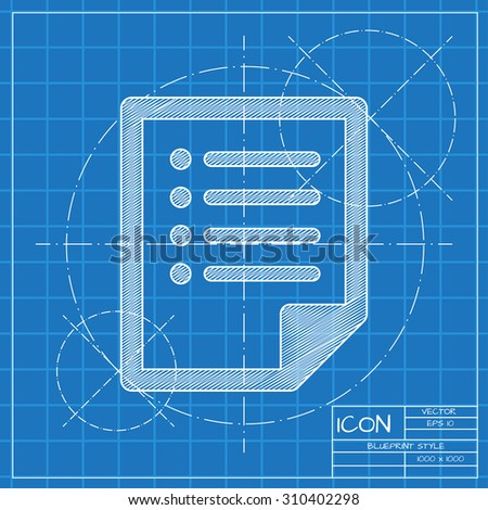 Vector blueprint document icon engineer architect stock vector vector blueprint document icon engineer and architect background malvernweather Choice Image
