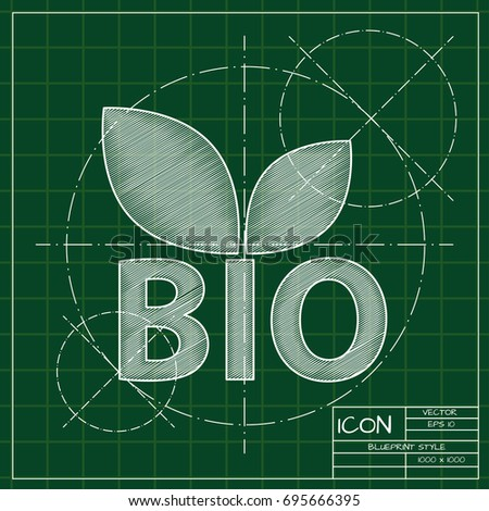Vector blueprint icon organic food natural stock vector 695666395 vector blueprint icon for organic food and natural products on engineer and architect background malvernweather Choice Image