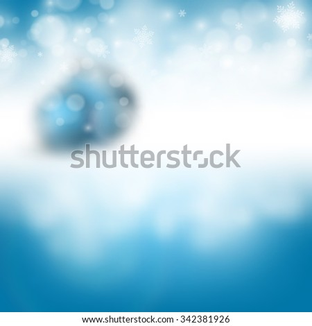 vector  blurred Christmas greeting card design. Eps10 - stock vector