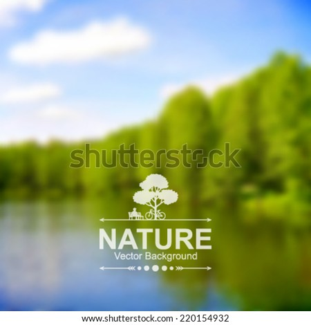 Vector blurred nature background. - stock vector