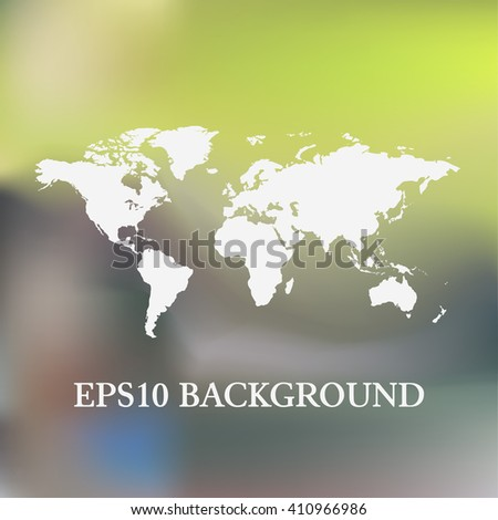 Vector Blurred World Map background - stock vector