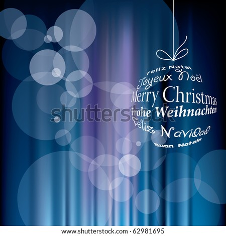 vector blurry christmas background, eps 10 file - stock vector