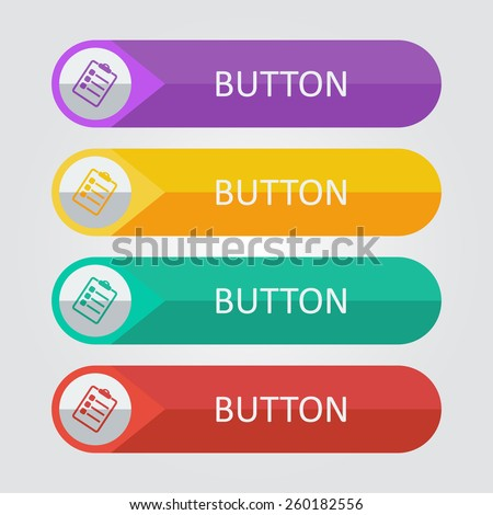 Vector board for paper. File format eps 10 - stock vector
