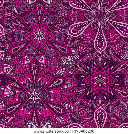 Vector Boho Chic Flower Seamless Pattern Elegant Floral Background For Wallpaper Gift Paper