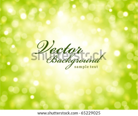 Vector bokeh light background - stock vector