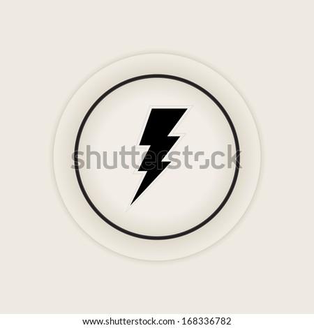 Vector bolt icon   symbol   sign - stock vector