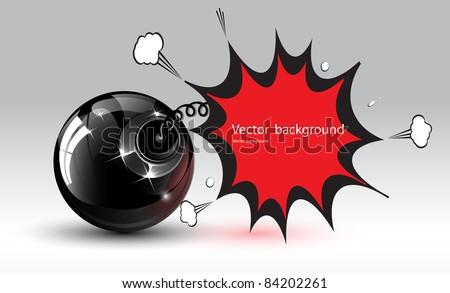 vector bomb - stock vector