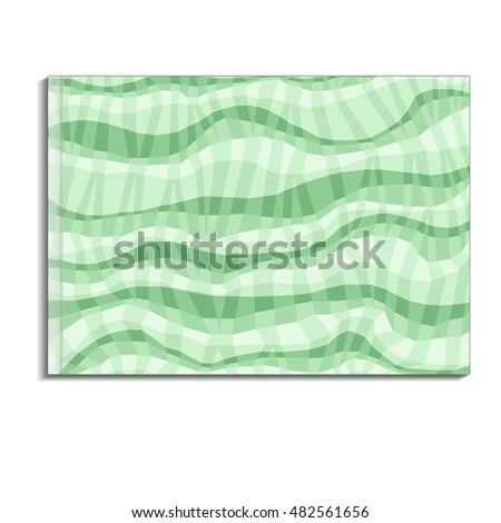 Vector book cover template with abstract light-green background. May use for flyer design, web templates, brochure, catalog, poster, report background or advertise publication.