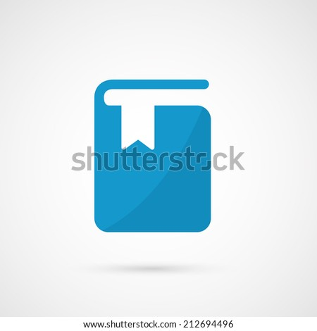 Vector  book with bookmark . - stock vector