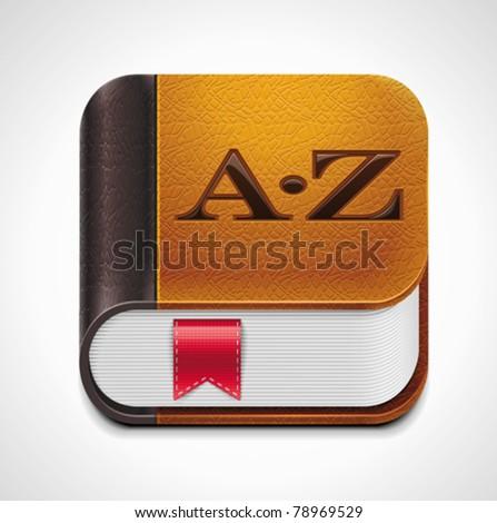 Vector book with bookmark XXL icon - stock vector