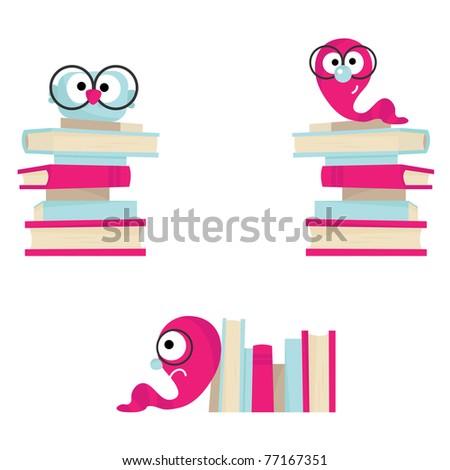Vector books. - stock vector
