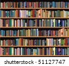 vector bookshelf - stock vector
