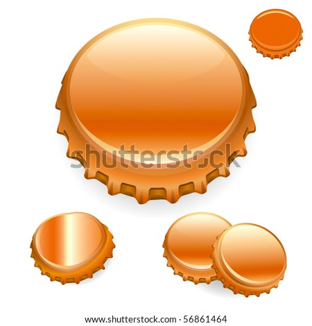 "Vector Bottle Caps - Bronze  ""Full compatible - gradients"""