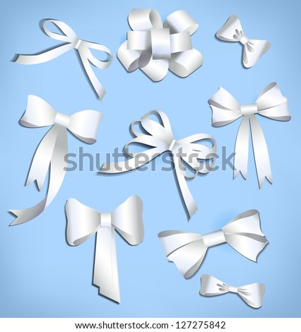 Vector bow collection. can be used banners, invitation, congratulation or website layout vector - stock vector