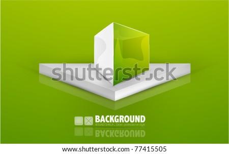 Vector box background - stock vector