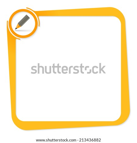 vector box for any text with pencil - stock vector