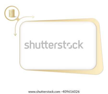Vector box to fill your text and coin - stock vector