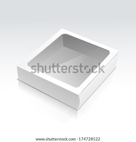 Vector Box with Transparent Window - stock vector