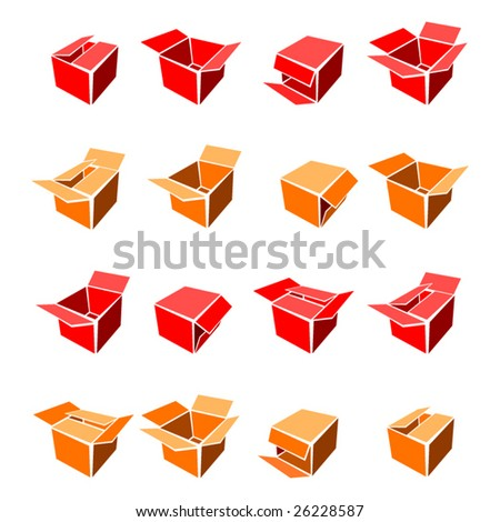 Vector boxes. - stock vector