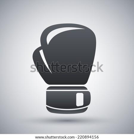 Vector boxing glove icon - stock vector