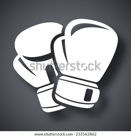 Vector boxing gloves icon - stock vector