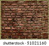 Vector brick wall - stock vector