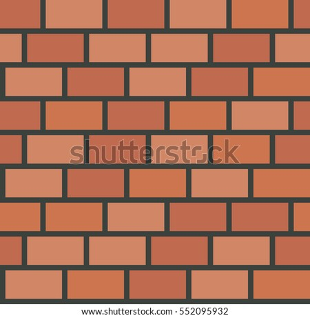 Vector Brick Wall Tile Seamless Pattern Background Texture Illustration