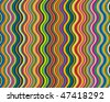 Vector bright and colorful background made of corrugated stripes - stock vector